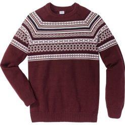 Swetry męskie: Sweter Regular Fit bonprix czerwony klonowy