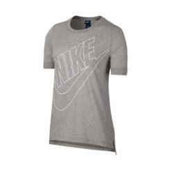 KOSZULKA W NSW TOP LOGO. Białe bluzki z odkrytymi ramionami marki Adidas, z bawełny, z długim rękawem, długie. Za 47,99 zł.