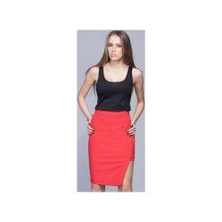 Asymetryczna elegancka spódnica czerwona   H018. Szare spódnice wieczorowe marki Miss Sixty, m, z dzianiny, midi, asymetryczne. Za 134,00 zł.
