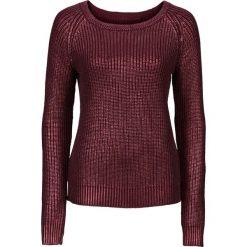 Swetry klasyczne damskie: Sweter z połyskiem bonprix czerwony klonowy z połyskiem