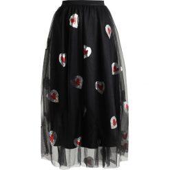 Długie spódnice: Navy London FILIPPA Długa spódnica black