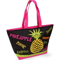 Torba plażowa Acapulco Ananas. Szare torby plażowe Astratex. Za 47,99 zł.