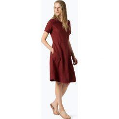 Sukienki: Part Two – Lniana sukienka damska – Kalena, czerwony