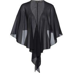 Bluzka narzutka bonprix czarny. Czarne bluzki wizytowe marki bonprix, z nadrukiem, z dekoltem w serek, na ramiączkach. Za 44,99 zł.