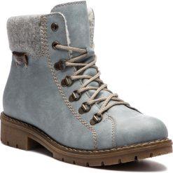 Trapery RIEKER - Y9142-10 Blau. Czarne buty zimowe damskie marki Rieker, z materiału. Za 279,00 zł.