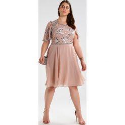 Sukienki hiszpanki: Frock and Frill Curve AREKA  Sukienka koktajlowa rose blush