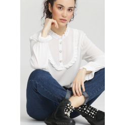 Biała Bluzka Bunny Lolita. Białe bluzki asymetryczne other, uniwersalny, z długim rękawem. Za 69,99 zł.