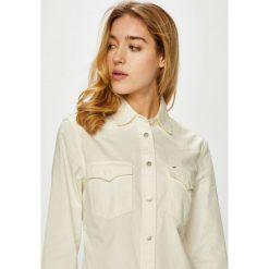 Lee - Koszula. Szare koszule damskie Lee, l, z bawełny, casualowe, z klasycznym kołnierzykiem, z długim rękawem. Za 239,90 zł.