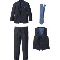 Garnitur 4-częściowy bonprix ciemnoniebiesko-niebieski. Niebieskie garnitury bonprix. Za 449,99 zł.
