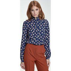 Bluzki damskie: Bluzka Koszulowa ze Stójką Wzór Dynie