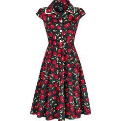 H&R London Cherry Red Vintage Dress Sukienka czarny. Czarne sukienki na komunię H&R London, m, z nadrukiem, z materiału, vintage. Za 184,90 zł.