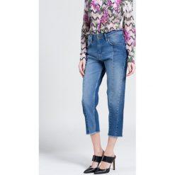 Pepe Jeans - Jeansy. Niebieskie boyfriendy damskie Pepe Jeans, z podwyższonym stanem. W wyprzedaży za 139,90 zł.