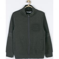 Bluza. Brązowe bluzy chłopięce rozpinane TRAVELLER, z aplikacjami, z bawełny, z długim rękawem, długie. Za 99,90 zł.
