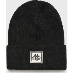 Kappa - Czapka. Czarne czapki zimowe męskie Kappa, na zimę, z dzianiny. W wyprzedaży za 59,90 zł.