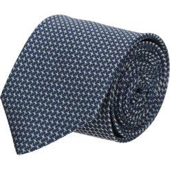 Krawat platinum granatowy classic 208. Niebieskie krawaty męskie Recman, z tkaniny, eleganckie. Za 49,00 zł.