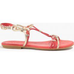 Sandały czerwone. Czerwone rzymianki damskie Badura. Za 129,99 zł.