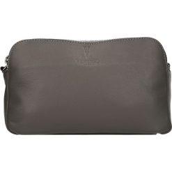 Torebki klasyczne damskie: Skórzana torebka w kolorze szarym – 24 x 16 x 9 cm