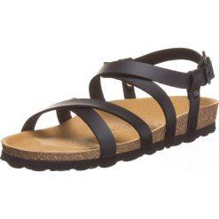 Sandały w kolorze czarnym. Czarne sandały męskie Backsun, na płaskiej podeszwie. W wyprzedaży za 152,95 zł.