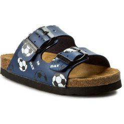 Klapki DR. BRINKMANN - 500236 Blau 5. Niebieskie sandały chłopięce Dr. Brinkmann, z materiału. Za 99,00 zł.