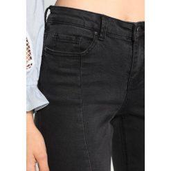 New Look SEAMED  Jeansy Slim Fit black. Czarne jeansy damskie marki New Look, z materiału, na obcasie. Za 129,00 zł.