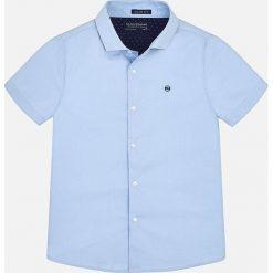 Mayoral - Koszula dziecięca 128-172 cm. Szare koszule męskie Mayoral, z bawełny, z włoskim kołnierzykiem, z krótkim rękawem. Za 114,90 zł.