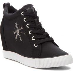 Sneakersy CALVIN KLEIN JEANS - Ritzy RE9800 Black. Czarne sneakersy damskie Calvin Klein Jeans, z jeansu. Za 519,00 zł.