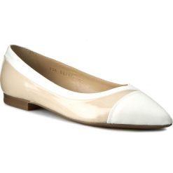 Baleriny GEOX - D Rhosyn C D620FC 038KF CA51Z Skin/White. Szare baleriny damskie marki Geox, z gumy. W wyprzedaży za 239,00 zł.