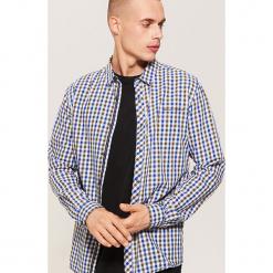 Twillowa koszula w kratkę - Zielony. Zielone koszule męskie w kratę marki Reserved, l, z weluru. Za 79,99 zł.