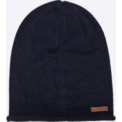 Barts - Czapka James. Niebieskie czapki zimowe męskie marki Barts, na zimę, z dzianiny. W wyprzedaży za 59,90 zł.
