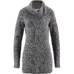 Sweter bonprix antracytowy melanż. Szare golfy damskie bonprix, melanż. Za 89,99 zł.