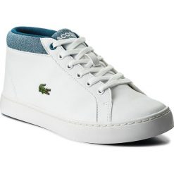Sneakersy LACOSTE - Straightset Chukka 317 1 Caj 7-34CAJ0015080 Wht/Blu. Białe buty sportowe chłopięce Lacoste, z materiału. W wyprzedaży za 249,00 zł.