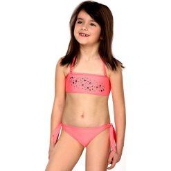 Dziewczęcy kostium kąpielowy Greta. Różowe stroje dwuczęściowe dziewczęce Astratex, z aplikacjami. Za 85,99 zł.