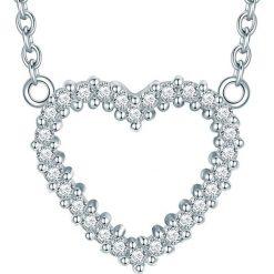 Naszyjniki damskie: Srebrny naszyjnik z elementem ozdobnym – dł. 45 cm