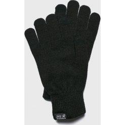 Jack Wolfskin - Rękawiczki. Czarne rękawiczki męskie marki Jack Wolfskin, w paski, z materiału. Za 89,90 zł.
