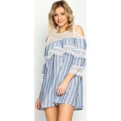 Niebieska Sukienka Wild Hills. Niebieskie sukienki letnie marki Born2be, s, mini. Za 99,99 zł.