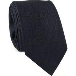 Krawat jedwabny KWGR000231. Czarne krawaty męskie Giacomo Conti, z jedwabiu, klasyczne. Za 129,00 zł.