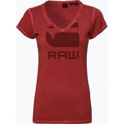 G-Star - T-shirt damski, czerwony. Czerwone t-shirty damskie G-Star, l, z nadrukiem, z dekoltem w serek. Za 99,95 zł.