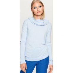 Sweter z luźnym golfem - Niebieski. Białe golfy damskie marki Reserved, l, z dzianiny. Za 49,99 zł.