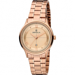 Zegarek kwarcowy w kolorze różowozłotym. Żółte, analogowe zegarki damskie Esprit Watches, ze stali. W wyprzedaży za 272,95 zł.