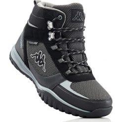 Kozaki sznurowane  Kappa bonprix czarno-szary. Czarne buty zimowe męskie marki bonprix, tenisowe. Za 239,99 zł.