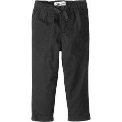 Odzież chłopięca: Spodnie z elastycznym paskiem, mocne i szybko schnące bonprix czarny