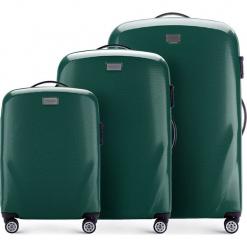 Zestaw walizek 56-3P-57S-85. Zielone walizki marki Wittchen, z gumy, duże. Za 694,71 zł.