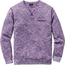Swetry męskie: Sweter Regular Fit bonprix jagodowo-biały melanż