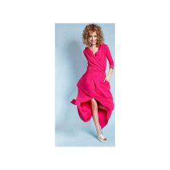 Sukienka Rachel Maxi - Malinowa. Czerwone długie sukienki Madnezz, m, sportowe, z kopertowym dekoltem, kopertowe. Za 279,00 zł.