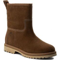 Botki TIMBERLAND - Chamonix Vallewinter A1J8Z Dark Rubber. Brązowe buty zimowe damskie marki Timberland, z gumy, na obcasie. W wyprzedaży za 489,00 zł.