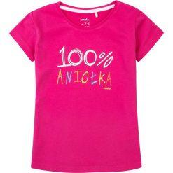 Endo - Top dziecięcy 134-164 cm. Różowe bluzki dziewczęce marki Mayoral, z bawełny, z okrągłym kołnierzem. W wyprzedaży za 24,90 zł.