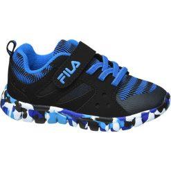 Sportowe buty dziecięce Fila czarne. Czarne buciki niemowlęce Fila, z materiału, na sznurówki. Za 99,90 zł.