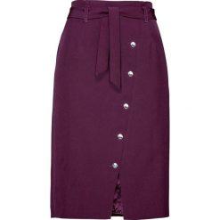 Spódnica z guzikami Swarovskiego® bonprix czarny bez. Fioletowe spódniczki bonprix, w paski. Za 149,99 zł.