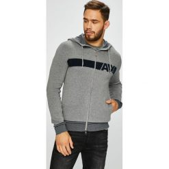 Armani Exchange - Bluza. Czarne bluzy męskie rozpinane marki Armani Exchange, l, z materiału, z kapturem. Za 599,90 zł.