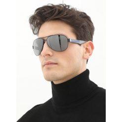 BOSS CASUAL Okulary przeciwsłoneczne mtblue grey. Szare okulary przeciwsłoneczne męskie aviatory BOSS Casual. Za 879,00 zł.